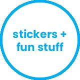 stickers + fun stuff
